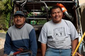 Day Laborer Gardener Truck Photo